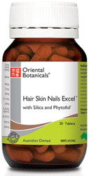 Hair Skin Nails Excel 60 Tablets Oriental Botanicals
