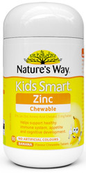 Kids Smart Zinc 90 Chewable Tabs x 3 Pack Nature's Way