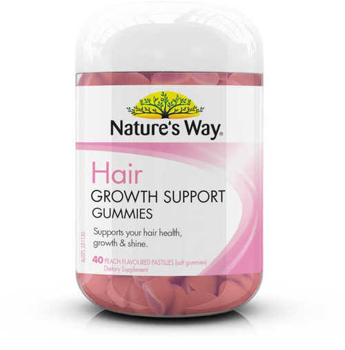 Hair Growth Support 40 Gummies x 3 Pack Nature's Way
