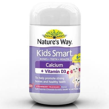 Kids Smart Calcium plus Vitamin D3 50 Chewable Burstlets Nature's Way