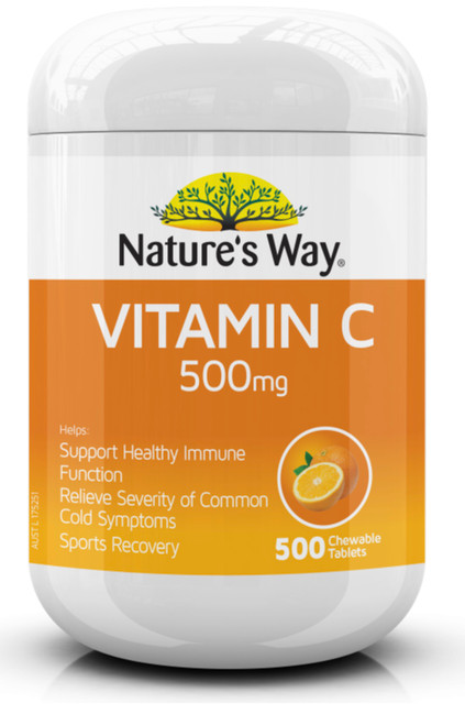 Vitamin C 500mg 500 Tablets x 3 Pack Nature's Way