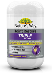 Joint Restore Glucosamine, Chondroitin and MSM Triple Action 120 Tablets x 3 Pack Nature's Way