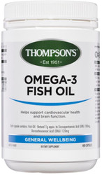 Fish Oil 1000mg Omega 3 400 Capsules Thompsons