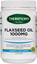 Flaxseed Oil 1000mg Gel Free 400 Vege Capsules Thompsons