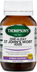 St Johns Wort 4000mg One-A-Day 60 Tablets Thompsons