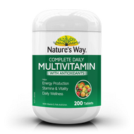 Complete Daily Multivitamin with Antioxidants 200 Tablets  x 3 Pack Nature's Way