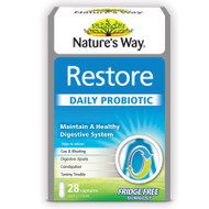 Restore Daily Probiotic 28 Capsules x 3 Pack Nature's Way