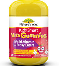 Kids Smart Vita Gummies Multivitamin for Fussy Eaters 60 Pastilles x 3 Pack Nature's Way