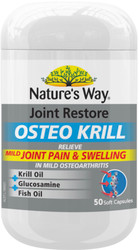 Joint Restore Osteo Krill 50 Caps x 3 Pack Nature's Way