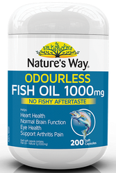 Fish Oil 1000Mg  200 Caps x 3 Pack Nature's Way