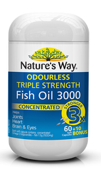 Fish Oil Triple Strength 70 Caps x 3 Pack Nature's Way