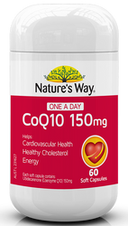 CoQ10 150mg 60 Caps x 3 Pack Nature's Way
