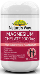 Magnesium Chelate 1000mg 100 Tabs x 3 Pack Nature's Way