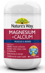 Magnesium + Calcium 90 Tabs x 3 Pack Nature's Way