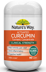 Activated Curcumin 90 Tabs x 3 Pack Nature's Way