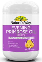 Evening Primrose Oil 1000mg 200 Caps x 3 Pack Nature's Way