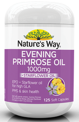 Evening Primrose Oil 1000mg plus Star Flower 125 Caps x 3 Pack Nature's Way