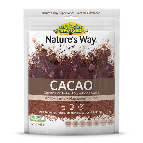 Cacao Powder 125g x 3 Pack Nature's Way