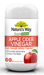 Apple Cider Vinegar 400mg 60 Caps x 3 Pack Nature's Way Superfoods
