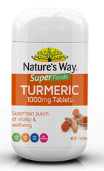 Turmeric 1000mg 60 Tabs x 3 Pack Nature's Way Superfoods