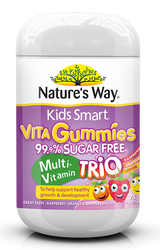 Kids Smart Vita Gummies Sugar Free Multi Trio 75 Pastilles x 3 Pack Nature's Way