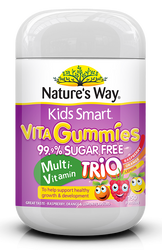 Kids Smart Vita Gummies Sugar Free Multi Trio 150 Pastilles x 3 Pack Nature's Way