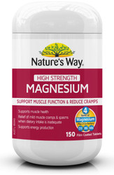 Magnesium 600mg High Strength 150 Tabs x 3 Pack Nature's Way