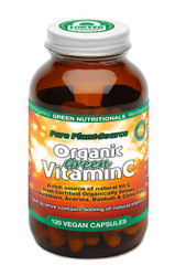Pure Plant-Source Organic Green Vitamin C 120 Caps Green Nutritionals