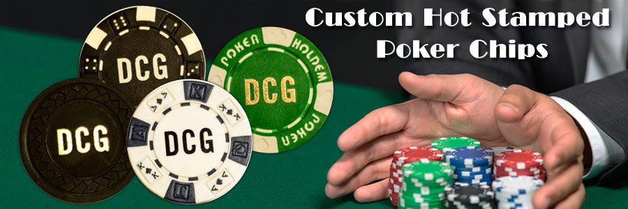Custom Hot Stamped Poker Chips