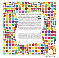 Harmony Ketubah - Colorful