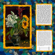 Sunflowers and Stargazers Ketubah - Classic Size