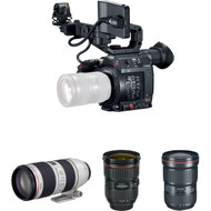 Canon EOS C200 Cinema Camera and Triple Lens Kit