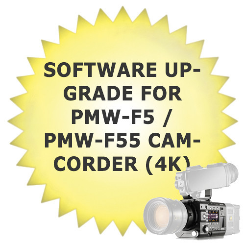 Sony Software Upgrade for PMW-F5 / PMW-F55 Camcorder (4K)