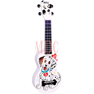 Mahalo Art Series Soprano Ukulele Dalmation White W/Bag MA1DAWT