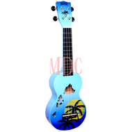 Mahalo Designer Series Soprano Ukulele Hawaii Blue Burst W/Bag MD1HABUB