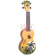 Mahalo Designer Series Soprano Ukulele Hawaii Green Burst W/Bag MD1HAGNB