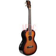 Mahalo Semi Acoustic Baritone Ukulele 3 Tone Sunburst W/Accessories & Bag MJ4VT3TS