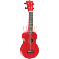 Mahalo Rainbow Series Soprano Ukulele Red W/Bag MR1RD