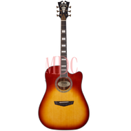 D'angelico Semi Acoustic Guitar Premier Bowery Iced Tea Burst