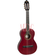 Valencia Classical Guitar 4/4 Size Trans Wine Red VC204TWR