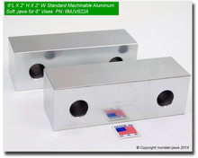"6 x 2 x 2"" Aluminum Standard Soft Jaws for 6"" Vises"