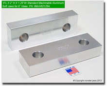 "6 x 2 x 1.25"" Aluminum Standard Soft Jaws for 6"" Vises"