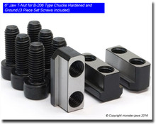 """6"""" Jaw T-Nut for KIT B-206 Type Chucks Hardened and Ground (3 Piece Set Screws Included)"""