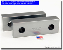 "6 x 2 x 1.25"" Steel Standard Machinable Jaws for 6"" Vises"