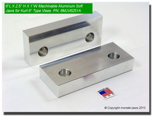 "6 x 2.5 x 1"" Aluminum Standard Soft Jaws for 6"" Vises"