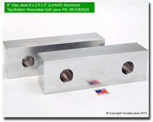 "8 x 2.5 x 2"" Top/Bottom Reversible Aluminum Soft Jaws for 8"" Vises"
