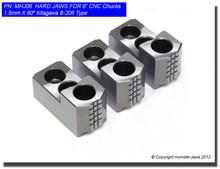 "6"" Hard Jaws 1.5mm x 60° Serrated for B-206 CNC Lathe Chucks"