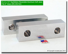 "6 x 2 x 1.5"" Top/Bottom Reversible Aluminum Jaws for 6"" Vises"