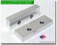 "6 x 2 x 1"" Oversized (Extension) Aluminum Jaws for 4"" Vises"
