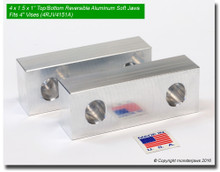 "4 x 1.5 x 1"" Top/Bottom Reversible Aluminum Jaws for 4"" Vises"